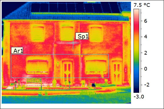 Thermographie extérieure – Façade d'une maison